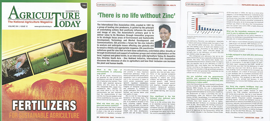 There is No Life Without Zinc – Agriculture Today